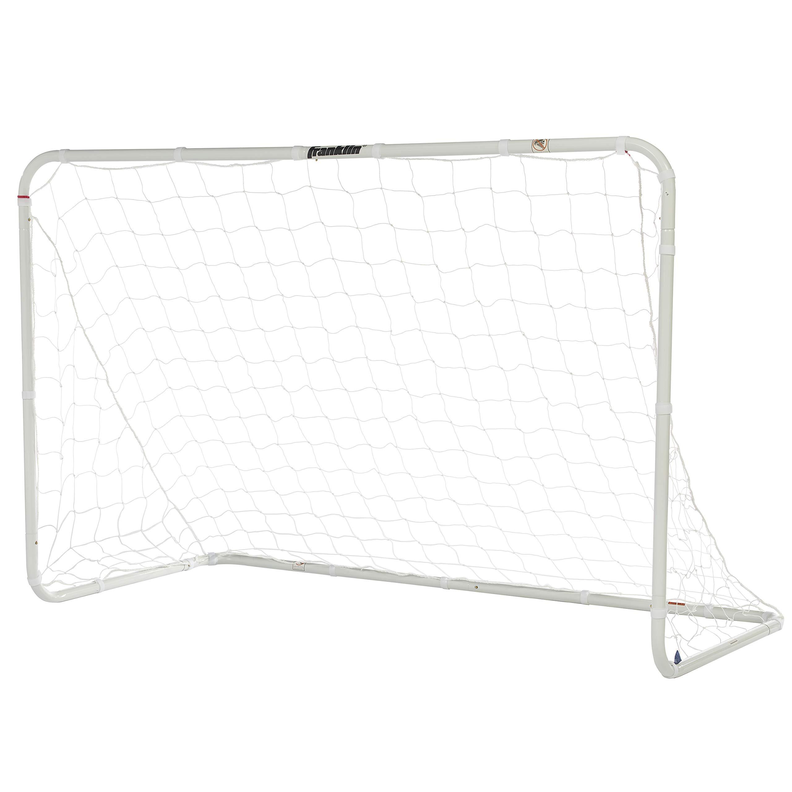 Franklin Sports Competition Soccer Goal – Soccer Net – Soccer Goal for Backyard – Steel Construction – 6 Ft by 4 Ft