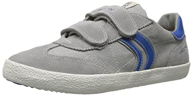 Geox Kiwi M, Baskets Basses Garçon - - Multicolor (Grey/Royal), 41