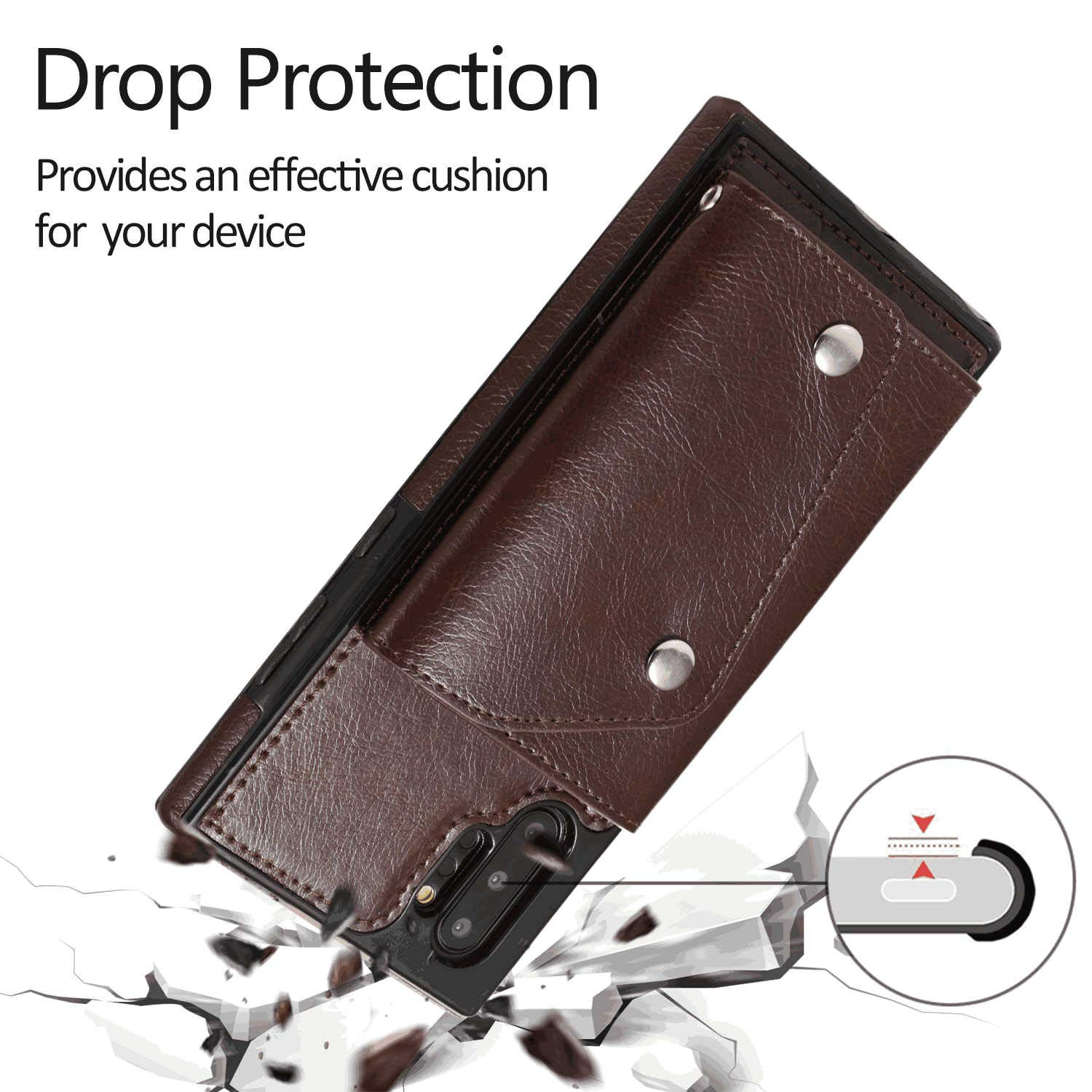 WiseLSwim Samsung Galaxy S7 Edge Flip Case Cover for Leather Kickstand Mobile Phone case Extra-Protective Business Card Holders Flip Cover
