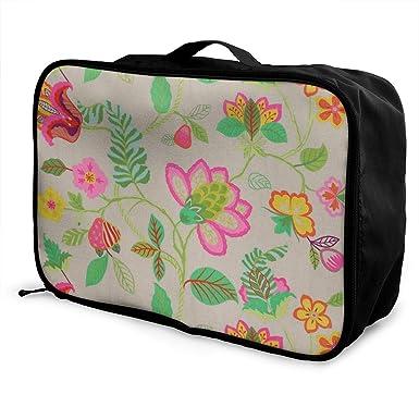 Amazon.com: Bolsa de equipaje portátil de gran capacidad y ...