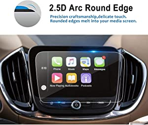 LFOTPP Glass Car Navigation Screen Protector for 2018 2019 Equinox LT Premier MyLink 8-Inch,Tempered Glass Infotainment Display in-Dash Media Center Touch Screen Protector Scratch-Resistant