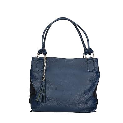 Damen Handtasche aus echtem Leder made in Italy - 36x28x17 cm Chicca Borse 4bI6eka