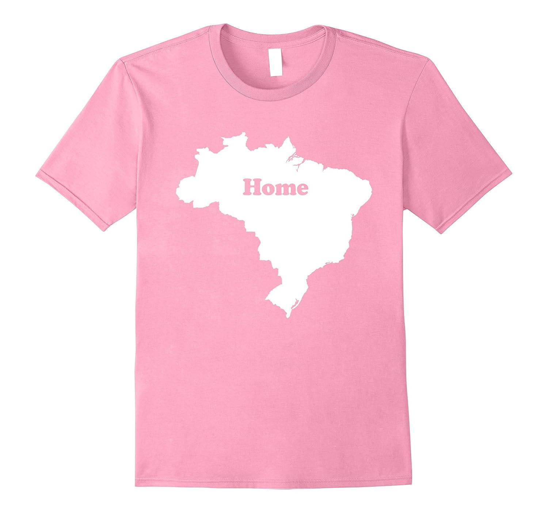 Brazil Home Map Outline Shape Funny T-Shirt-CD
