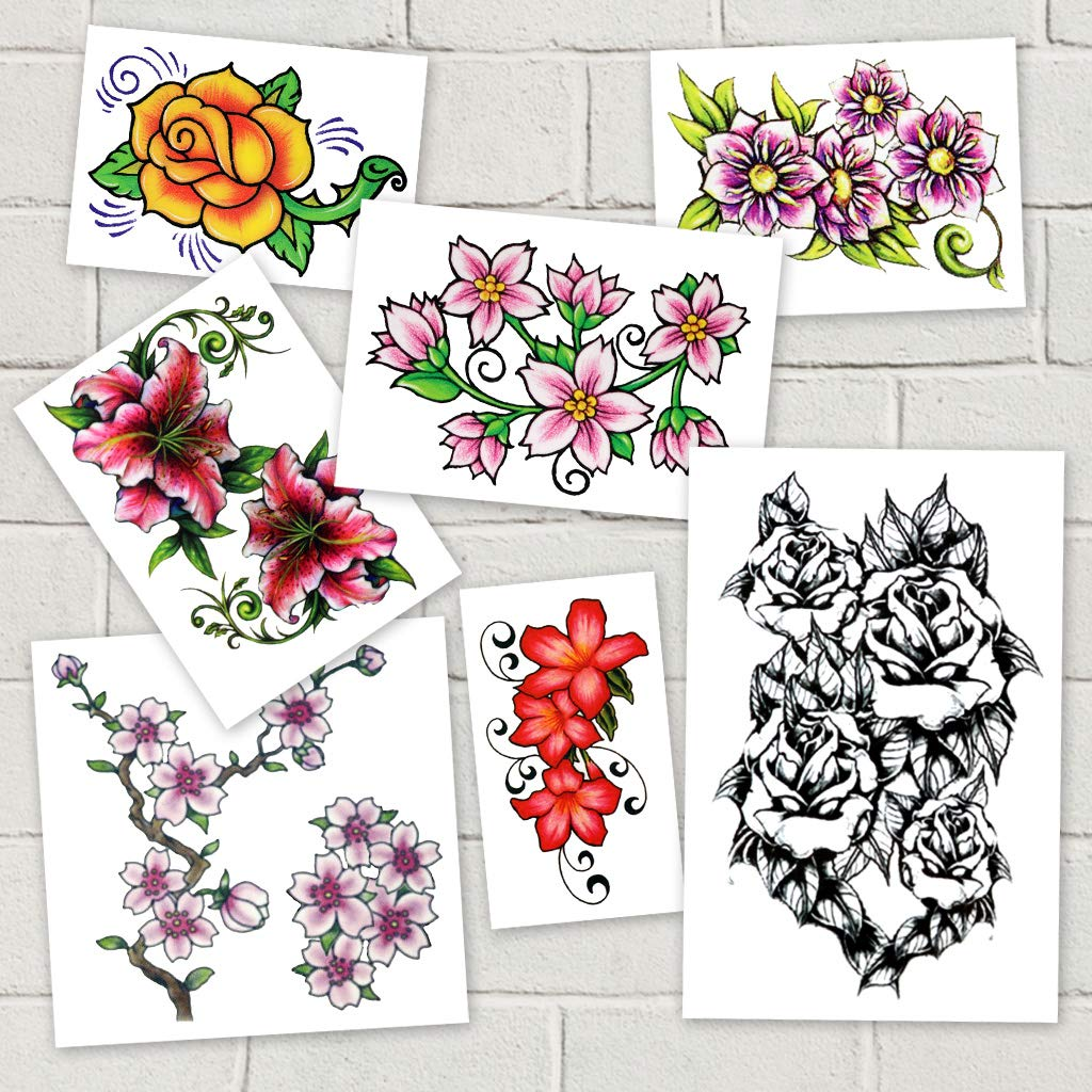 Flower Power 2 Pack Temporary Tattoos | Skin Safe | MADE IN THE USA| Removable