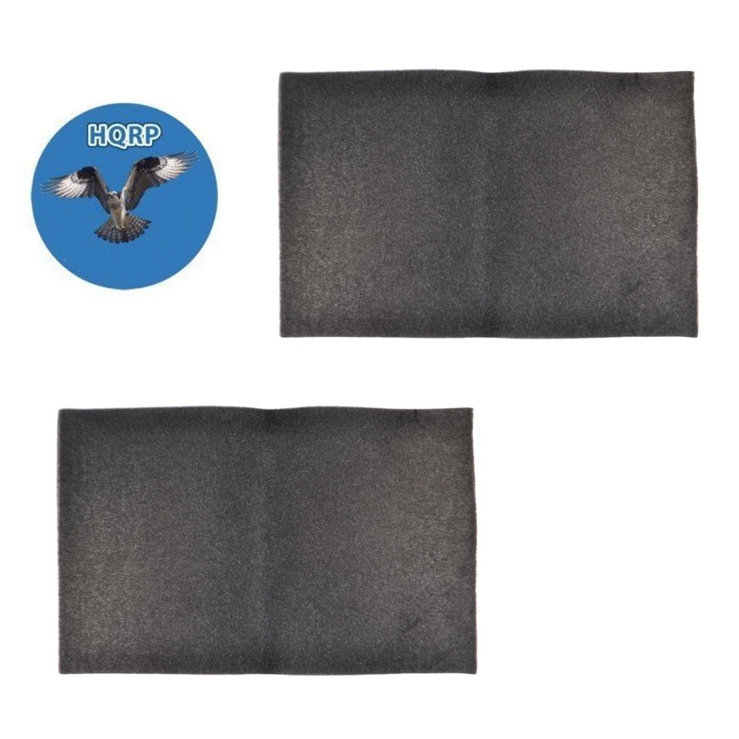 HQRP 2-Pack Air Conditioner Foam Filter for Duck Brand 1285234 Replacement, 24-Inch x 15-Inch x 1/4-Inch Coaster