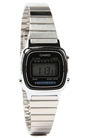 cc6f2bbef0 CASIO Small Digital Classic Series Women's Stylish Watch - Silver One Size