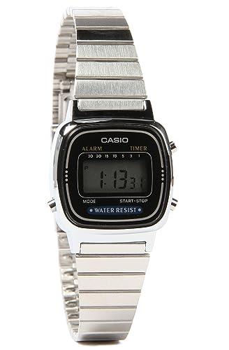G-Shock - Reloj pequeño Digital Serie Clásica elegante de la mujer reloj - Plata/un tamaño: Casio: Amazon.es: Relojes