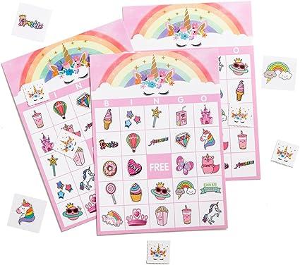 Amazon.com: Miss FANTASY - Juego de bingo y unicornio para ...