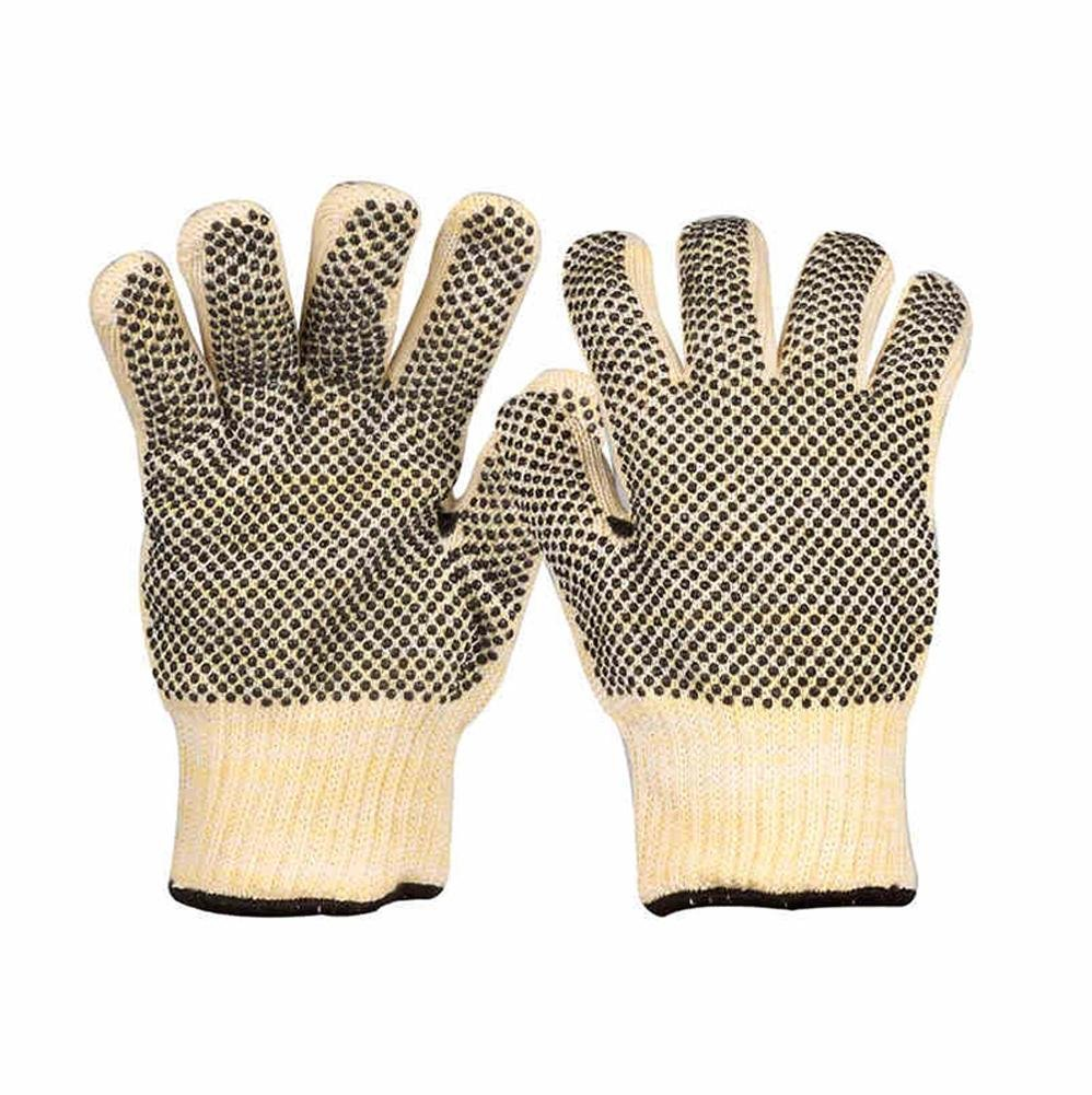 Double-sided point beads anti-hot insulation temperature 350 ° wear-resistant anti-slip labor protection manual labor gloves by LIXIANG