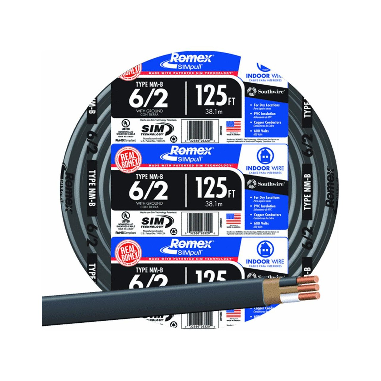 Southwire 28894402 Nonmetallic With Ground Sheathed Cable ...