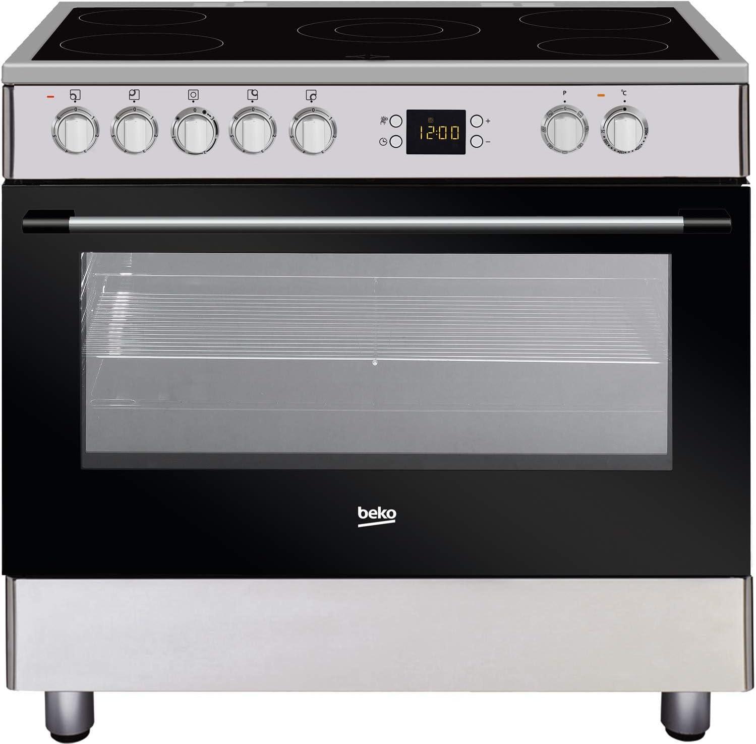 Cocina eléctrica Vitro 90 cm, 5 placas, horno Multi 7*, horno ...