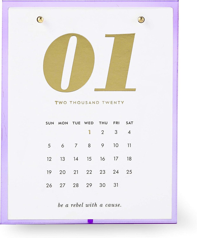 Kate Spade New York Small 12 Month Desktop Calendar, Dated January 2020 - December 2020, Lilac