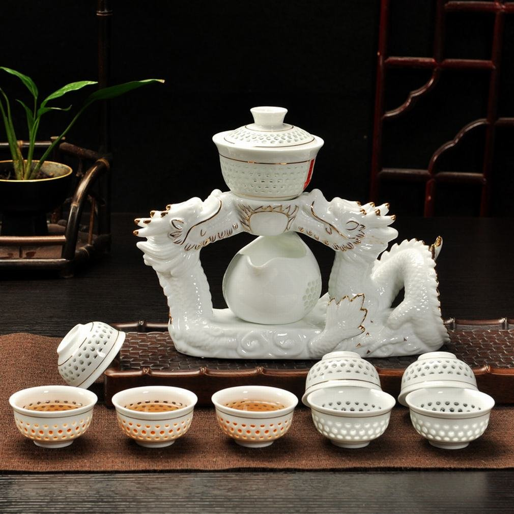 L Y Vollautomatisches Tee-Set Hohlen Kristall Exquisiten Tee Kung Fu Tee-Set Premium Fauler Tee Tee-Set