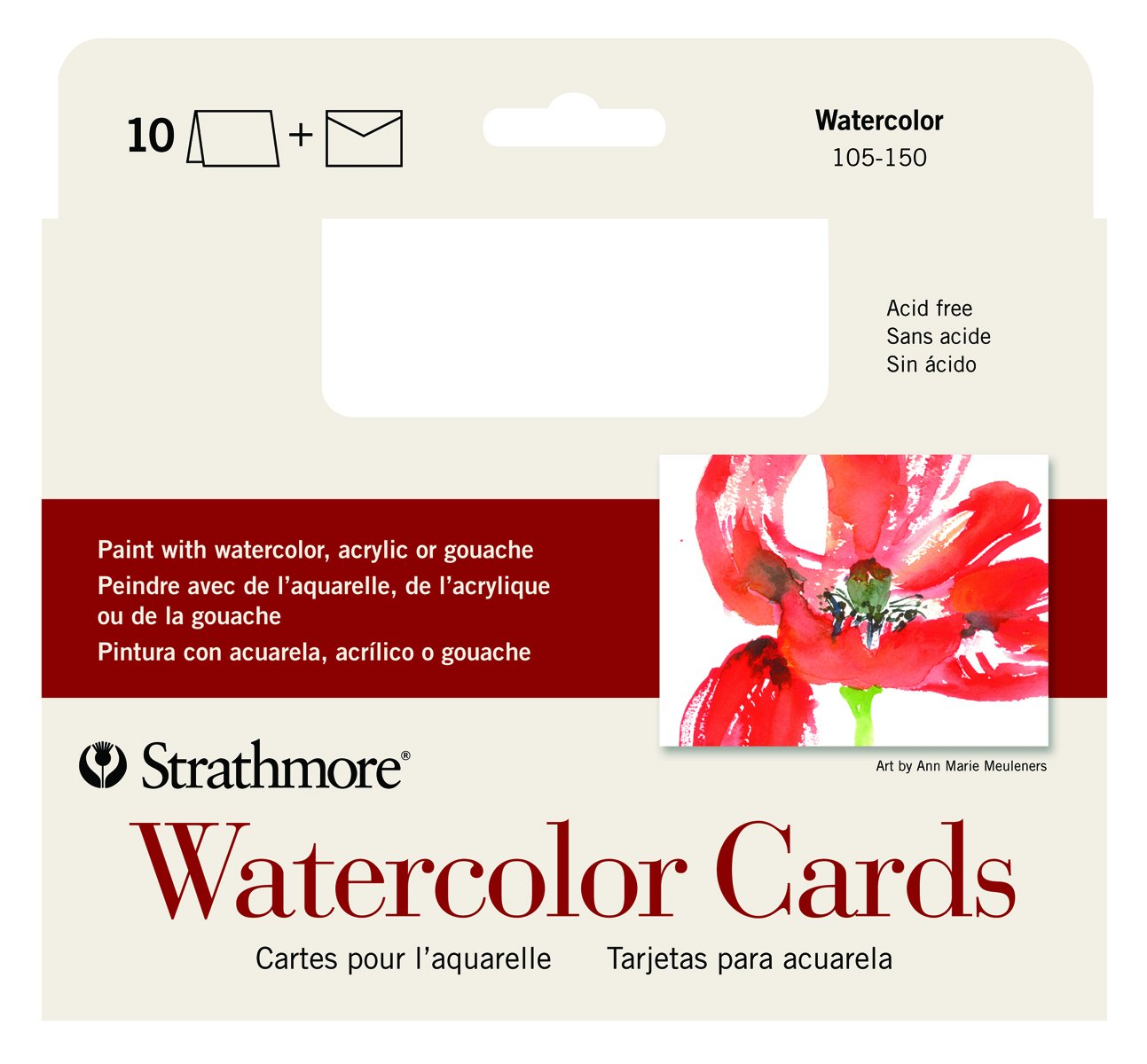 Amazon Strathmore 105 150 Watercolor Cards Full Size Cold