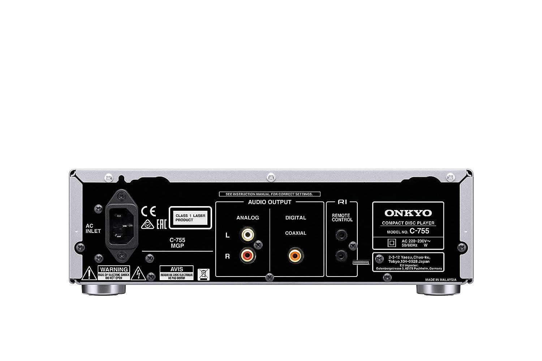 Onkyo C-755-B - Reproductor de CD (Formato MP3, Frontal Aluminio ...
