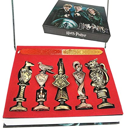 Cera Antigua Harry Potter estéreo, Pintura metálica, Sello, Set de Cera de Sellado, Kit de colección de Cera para esconder Color pudlard en Caja de ...