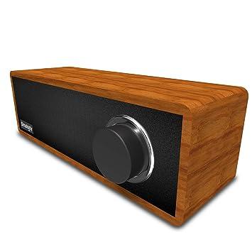 Smalody Holz Bluetooth Lautsprecher Soundbox Kabellos Tragbar Wireless  Lautsprecher Stereo Mini Subwoofer Outdoor Schreibtisch Wohnzimmer  Lautsprecher ...