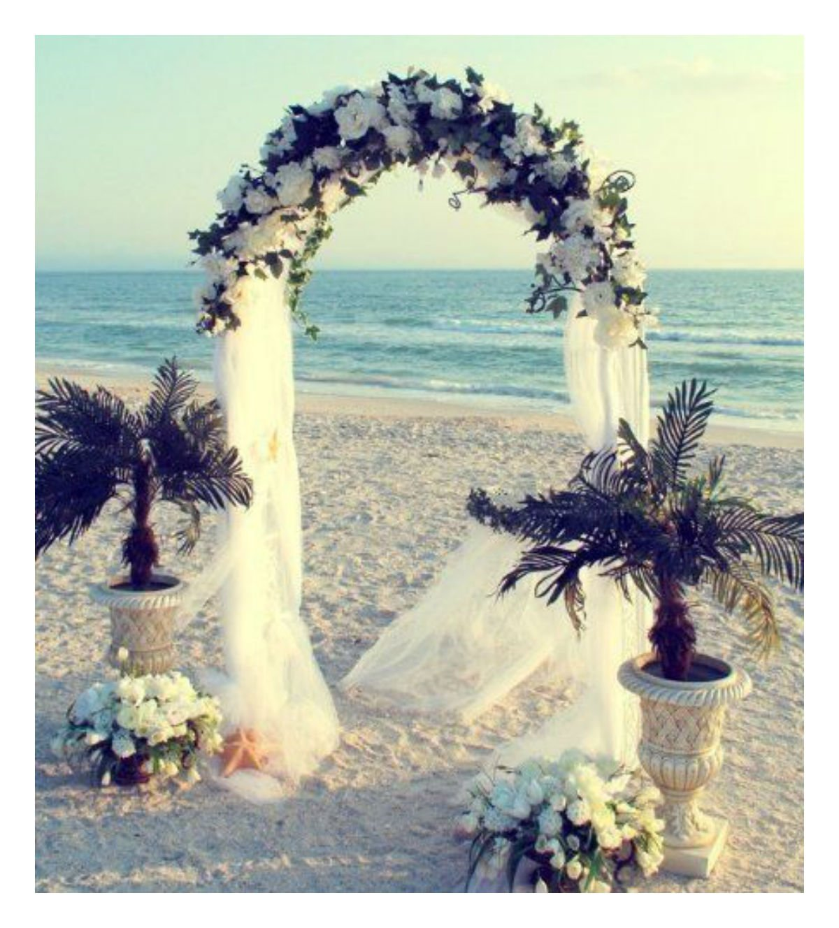 WHITE-METAL-ARCH-75-FT-for-Wedding-Party-Bridal-Prom-Garden-Floral-Decoration