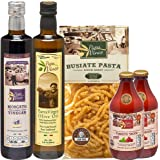 Papa Vince ITALIAN GOURMET GIFT BASKET made in Italy from fresh ingredients grown in Sicily. Low Glycemic Pasta, Low Acid Mar