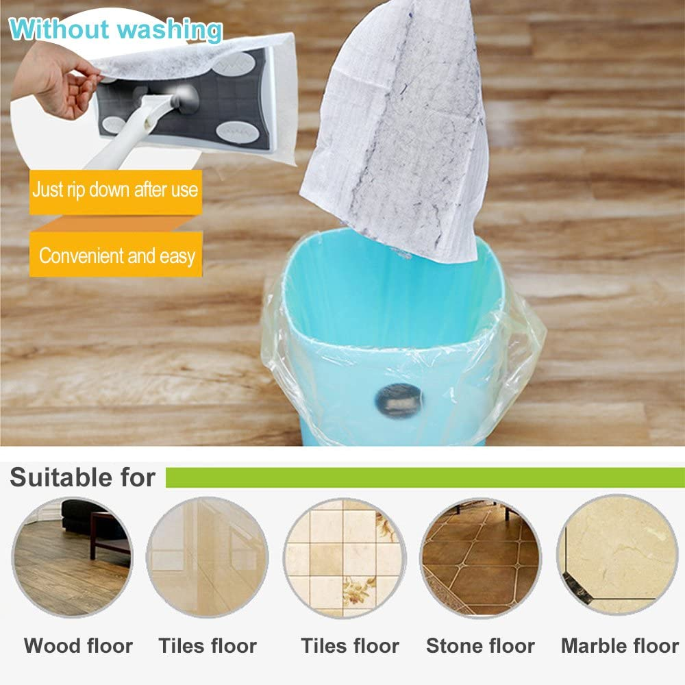 TV Camera Window Wall /& Door Baffect 80pcs Cleaning Paper Electrostatic Paper Mop Disposable Paper Clean Dust /& Hair for Floor