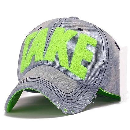 NONGNIML Gorras de béisbol Tela Vaquera Cap Gorra de béisbol Jean Carta Bordados Sombrero para Hombres