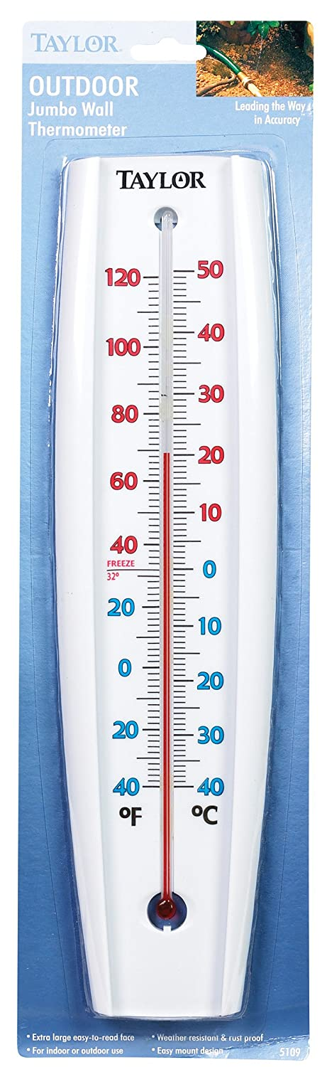 Amazon.com: Taylor Outdoor Jumbo Wall Thermometer: Home & Kitchen