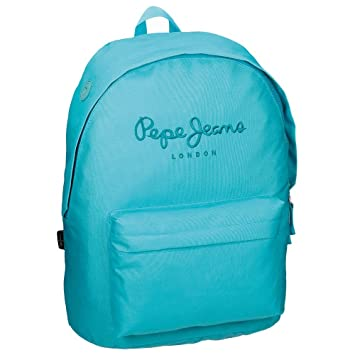 Pepe Jeans 6342358 Plain Color Mochila Escolar, 21.5 litros, Color Azul: Amazon.es: Equipaje