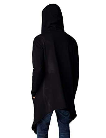 ddbbf3b9c Urban Classic Men's Long Hooded Open Edge Cardigan
