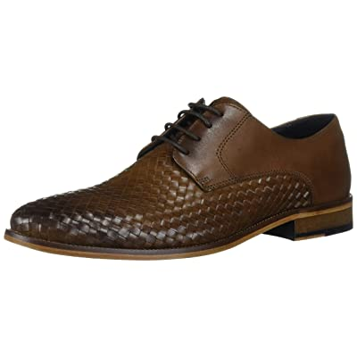 MARC JOSEPH NEW YORK Men's Leather Gold Collection Dress Woven Oxford | Oxfords