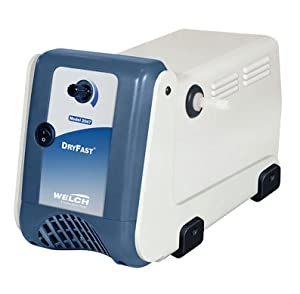 Welch Vacuum 2037B-01 DryFast Vacuum Pump, Oil-Free Diaphragm, PTFE Chemical Resistant, 50 LPM, 35 Torr, 115V