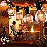 Lichterkette Au/ßen Lichterkette Gl/ühbirnen Outdoor G40 9.6m IP65 Wasserdicht 30er Globe Birnen Lichterkette Garten f/ür Weihnachten Hochzeit Party Aussen Dekoration Warmwei/ß