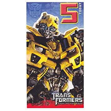 Transformers Age 5 Birthday Card 5th Amazoncouk Toys Games