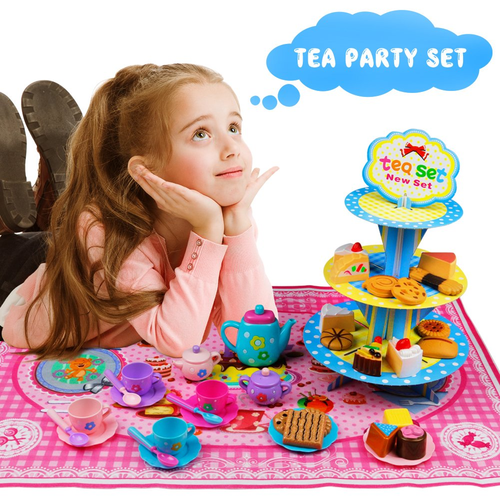 Tee Set Spielzeug Kaffeeservice Kunststoff Rollenspiele Kinderküche ...