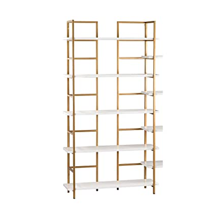 another chance e33eb 65c6f Amazon.com: White and Gold Shelving Unit: Kitchen & Dining