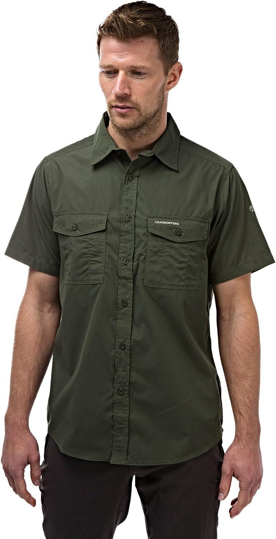 Craghoppers Uomini Kiwi Camicia A Maniche Corte