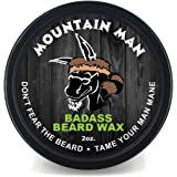 Badass Beard Care Beard Wax For Men - Scent - Softens Beard Hair, Leaves Your Beard Looking And Feeling More Dense 2 oz The Mountain Man
