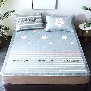 LJ&XJ Mattresses, Cooling Mattresses Summer Sleeping Mats Collapsible Single Student Dorm Room, Ice Silk Mat Three-Piece-b Queen2
