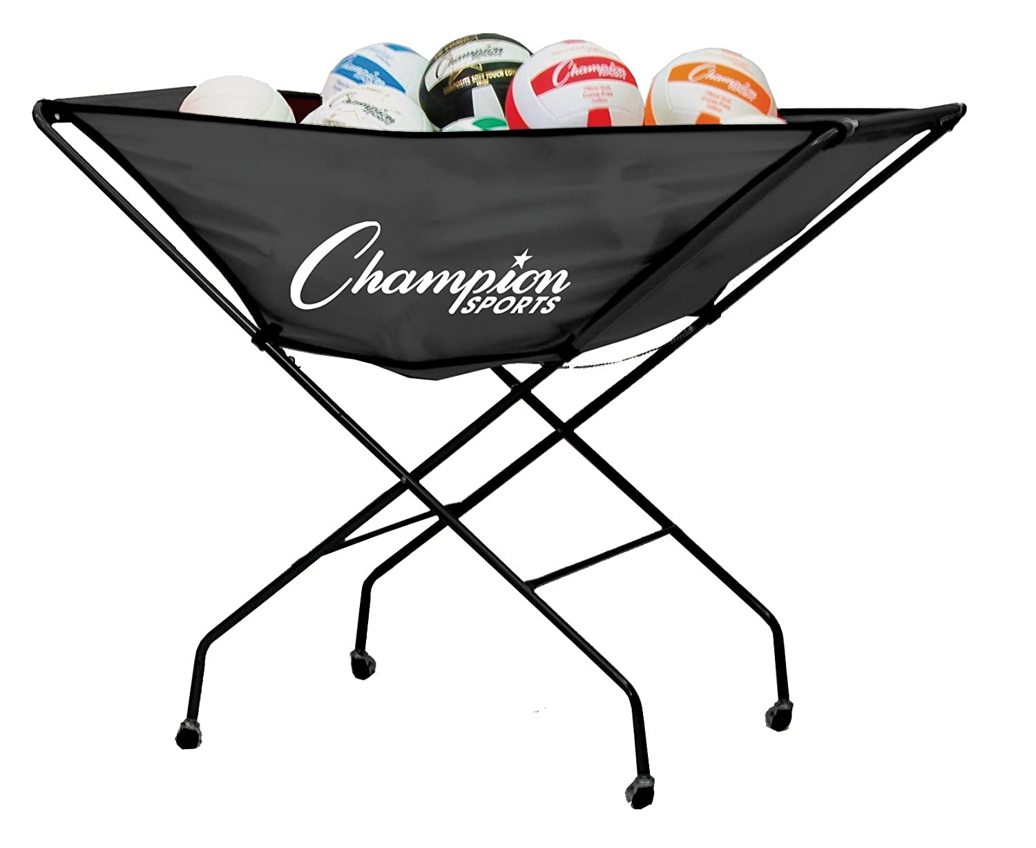Champion Sports Collapsible Volleyball Storage Cart VCPRO