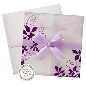 Schön Verspielte Einladungskarte U0026quot;Uteu0026quot;   Karte In Zarten Lila  Und  Fliedertönen Wird Ihre