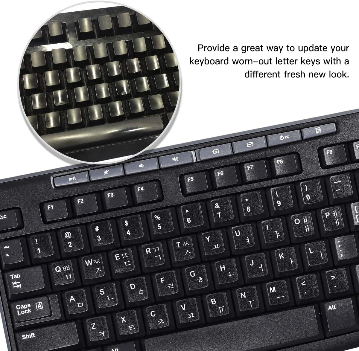 3 Pack Transparent Replacement Russian Keyboard Stickers Transparent Background with Organge Lettering Keyboard Stickers for Laptop PC Computer Desktop Notebook Keyboards Russian Layout