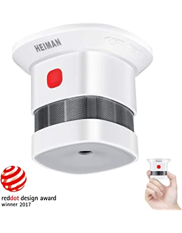 Mini Detector de Alarma de Humo HEIMAN, Batería de por Vida con batería de 10
