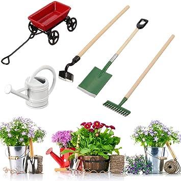Aissimio Lot de 3 outils de jardin miniatures pour maison de poupée ...