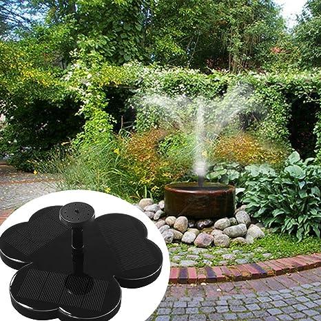 ZLJWRQY Fuente Solar Power Bird baño Fuente Agua Flotante pequeño Estanque jardín Patio decoración: Amazon.es: Deportes y aire libre