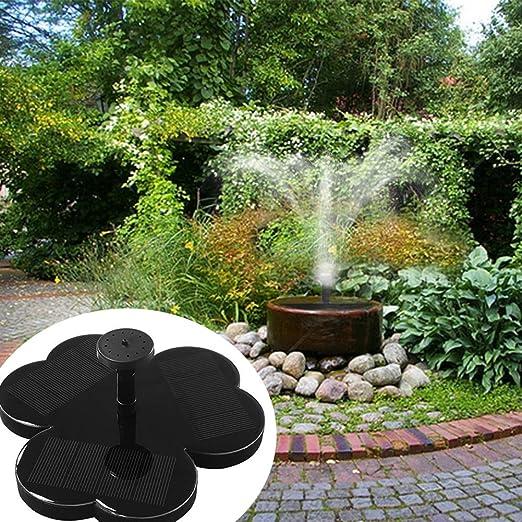 Yzpyd Energía Solar pájaro baño Fuente Agua Flotante pequeño Estanque jardín Patio decoración: Amazon.es: Hogar