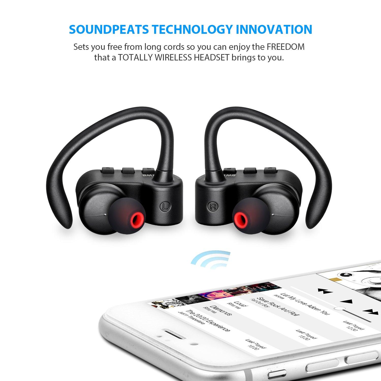galleon soundpeats wireless earbuds true wireless stereo bluetooth 4 2 headphones cordless. Black Bedroom Furniture Sets. Home Design Ideas