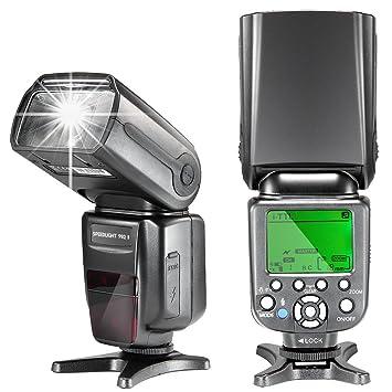 MK900 i-TTL LCD pantalla Master/Slave Speedlite Flash para Nikon ...