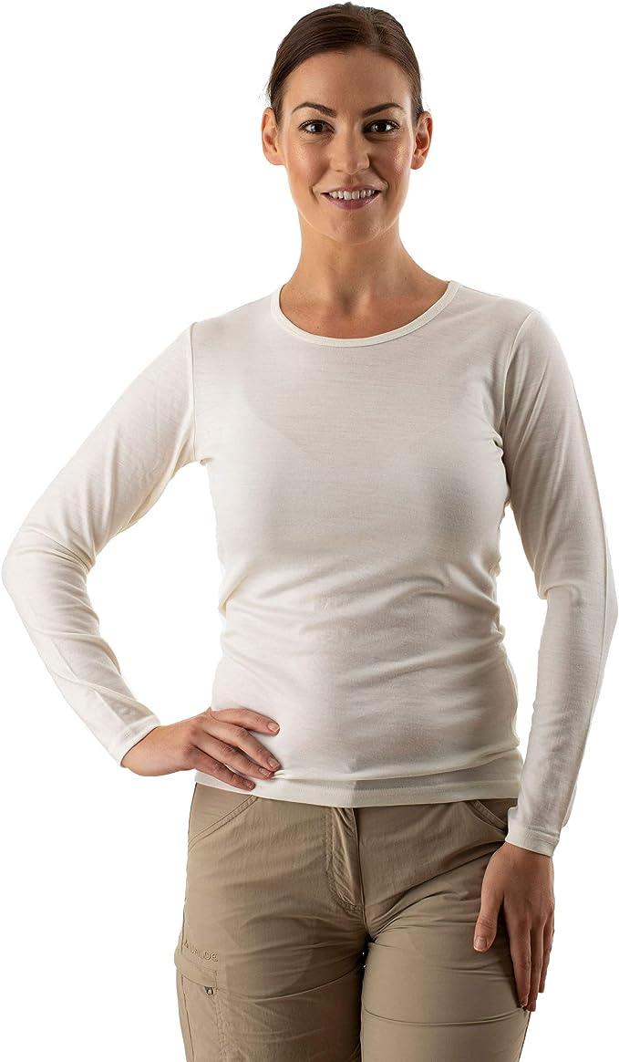 Merino wool Childrens long sleeve t-shirts - GREEN ROSE