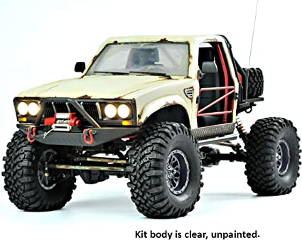 Amazon Com Sr4a Demon 4x4 W Lexan Body 1 10 Scale 4wd Scaler Rock Crawler Pickup Truck Kit Requires Assembly And Paint Toys Games