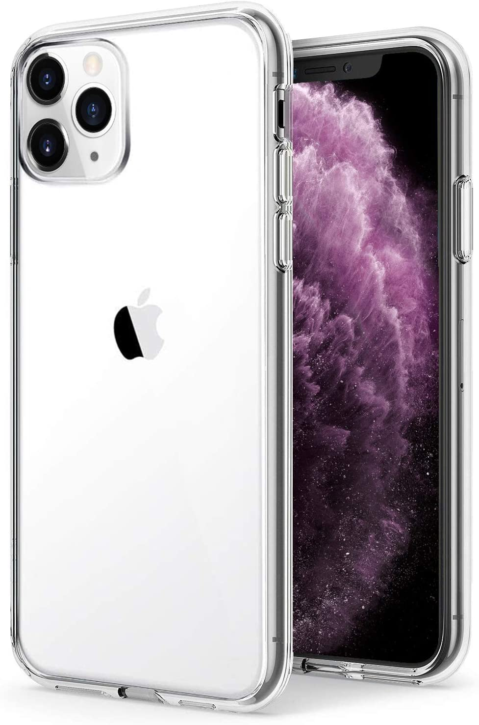 TENOC Phone Case Compatible for Apple iPhone 11 Pro 5.8 Inch, Crystal Clear Ultra Slim Cases Soft TPU Bumper Protective Cover