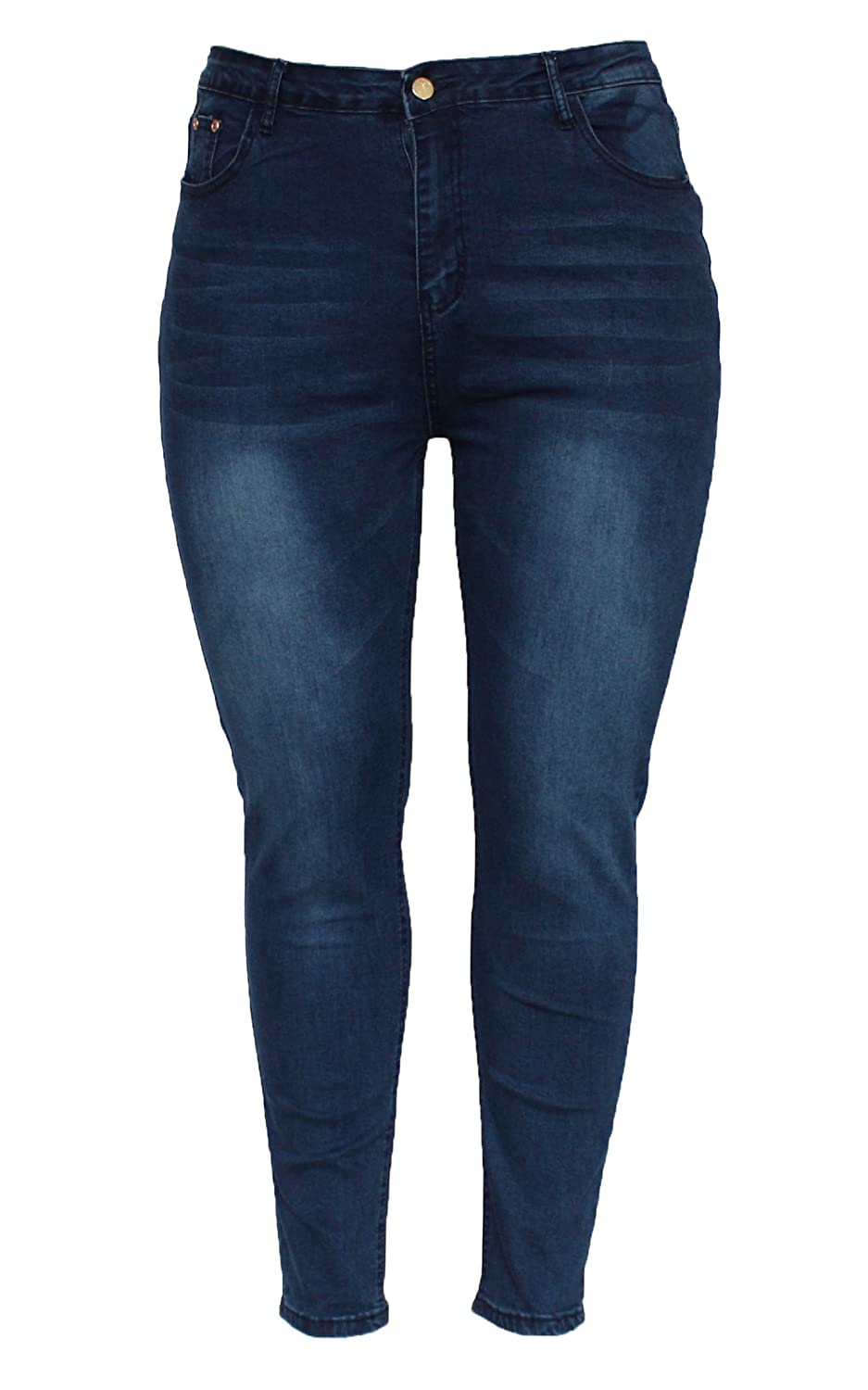 Barfly Fashion New Ladies Womens High Waisted Skinny Plus Size Casual Stretchy Slim Skinny Fit Denim Jeans UK Size 8-26